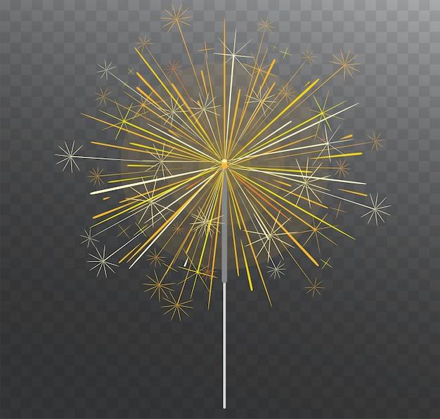 Luz festiva de bengala. iluminação de fogos de artifício mágicos.