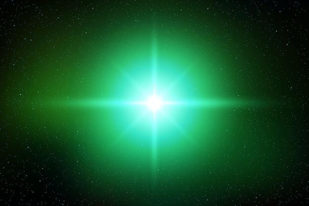Luz flash efeito de brilho do sol brilhante ou estrela