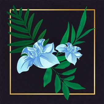 Luz - flor azul vintage folha natureza