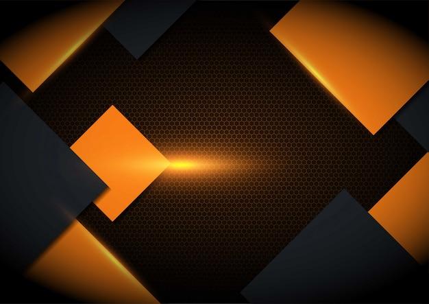 Luz laranja em fundo geométrico