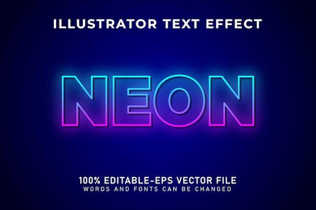 Luz neon, efeito de texto editável