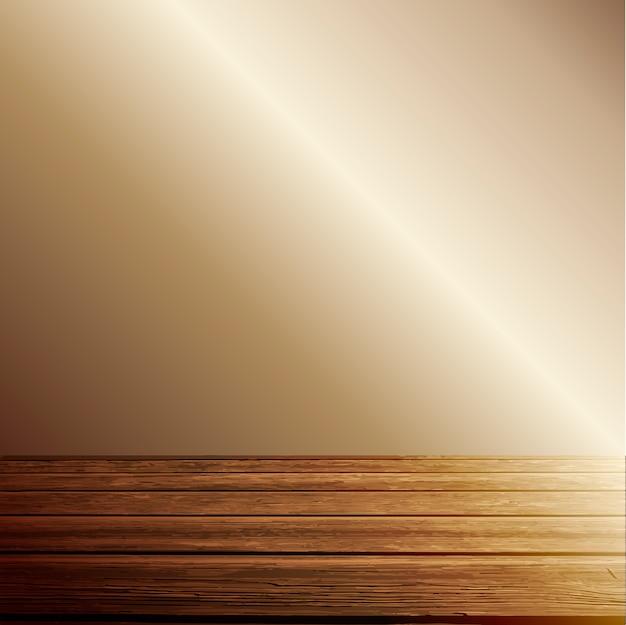 Luz no fundo do chão de madeira