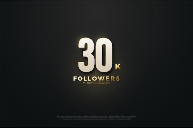 Luz para trinta mil seguidores beackground