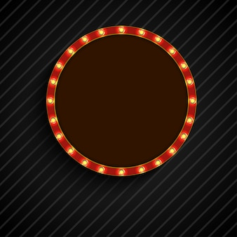 Luz retro brilhante da bandeira do círculo de conceito