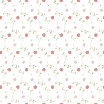 Luz rosa buquê verde sem costura de fundo