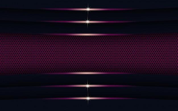 Luz roxa abstrata moderna com fundo de forma