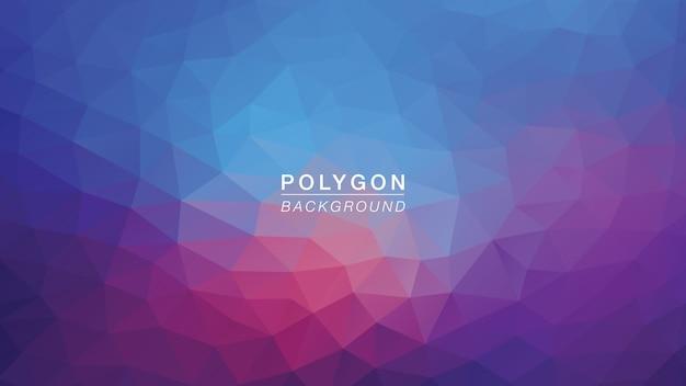 Luz roxa azul do polígono