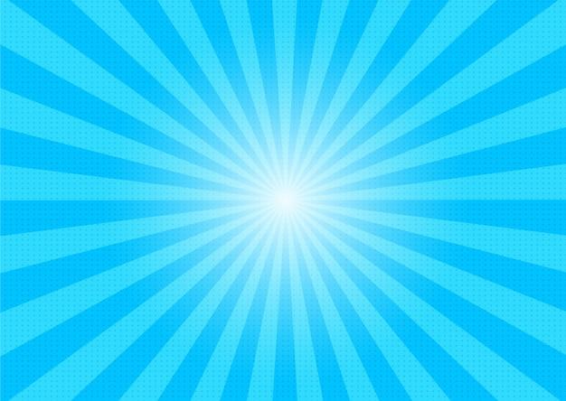 Luz solar cômica abstrata dos desenhos animados e fundo do verão.