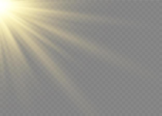 Luz solar, efeito de luz especial, flash de lente solar