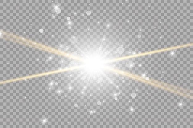 Luz solar lente especial efeito de luz de flash.