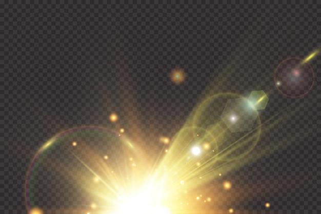 Luz solar transparente efeito de luz especial de reflexo de lente