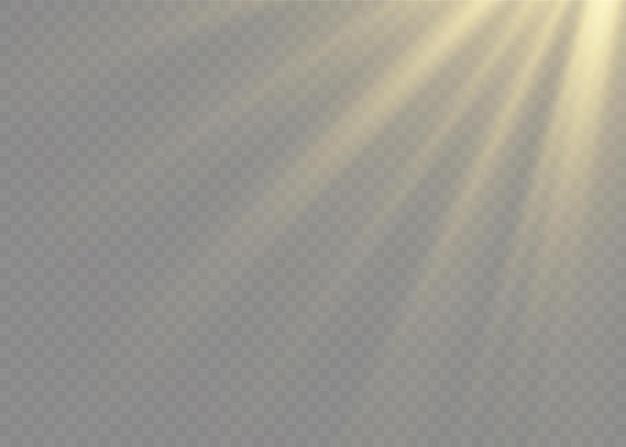 Luz solar transparente lente especial efeito de luz de flash