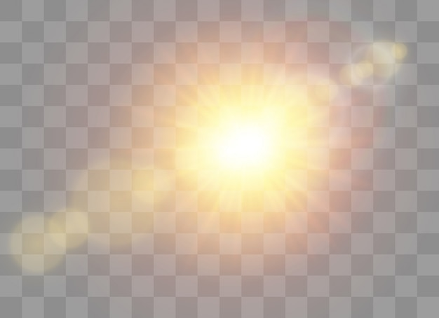 Luz solar transparente lente especial efeito de luz do flash.