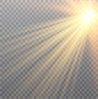 Luz solar transparente lente especial flare efeito de luz. partículas de poeira mágica cintilante