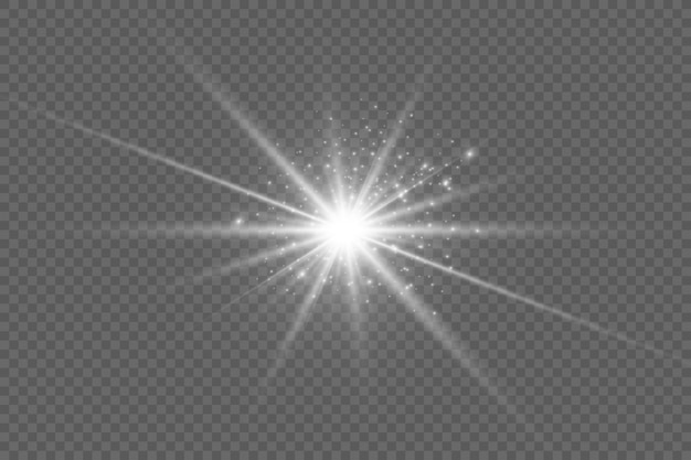 Luz solar transparente lente especial flare efeito de luz