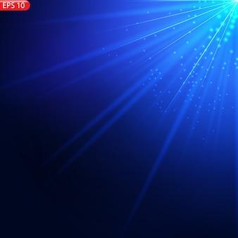 Luz solar transparente lente especial flash de efeito de luz de lente solar frontal.