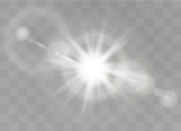 Luz solar transparente lente especial flash efeito de luz. flash de lente solar frontal. borrar à luz do brilho. elemento de decoração.
