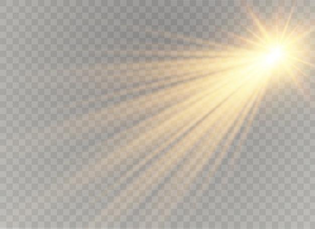 Luz solar transparente lente especial flash efeito de luz. flash de lente solar frontal. borrar à luz do brilho.