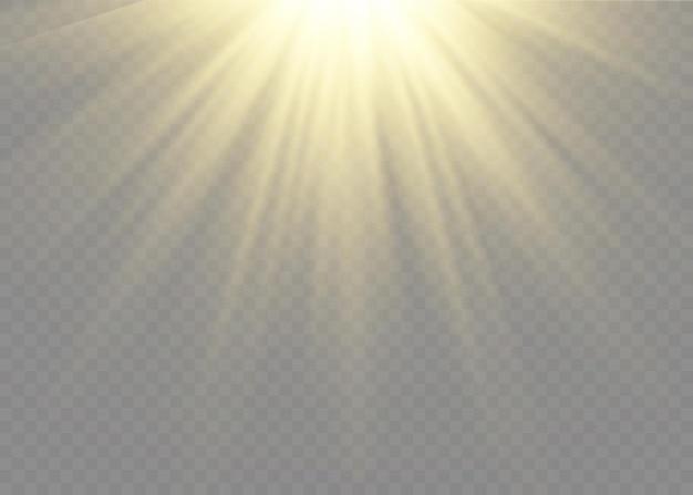 Luz solar transparente lente especial flash efeito de luz. flash de lente solar frontal. borrar à luz do esplendor.