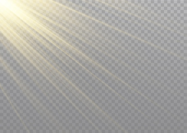 Luz solar transparente lente especial flash light effect.front sol lens flash. borrão à luz do brilho. elemento de decoração. raios estelares horizontais e holofote.