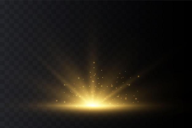 Luz solar transparente.