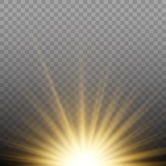 Luz solar um especial translúcido de th