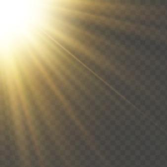 Luz solar um especial translúcido do efeito da luz