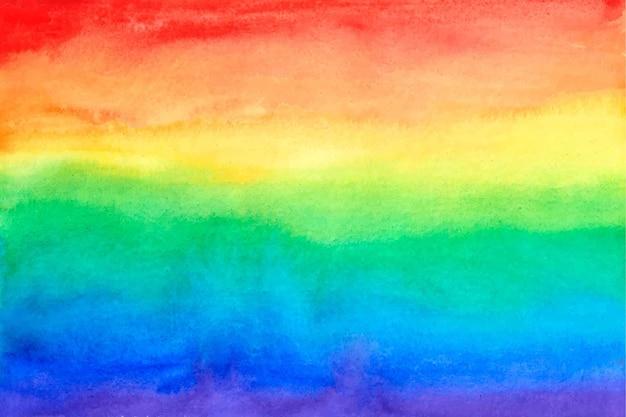 Luz tudo está ok aquarela arco-íris
