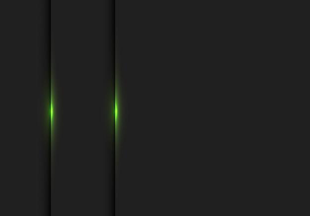 Luz verde abstrata no fundo preto do espaço em branco da sombra.