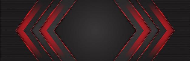 Luz vermelha 3d direção da seta fundo cinza escuro