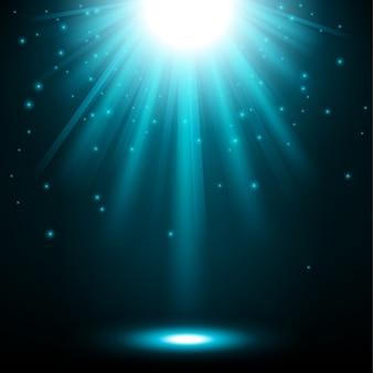 Luzes azuis brilhando fundo