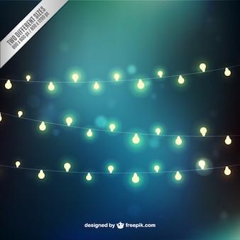 Luzes belas guirlandas