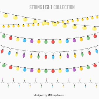 Luzes bonitas da corda para o partido