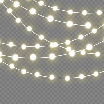 Luzes brilhantes de natal para férias. lâmpada de neon led.