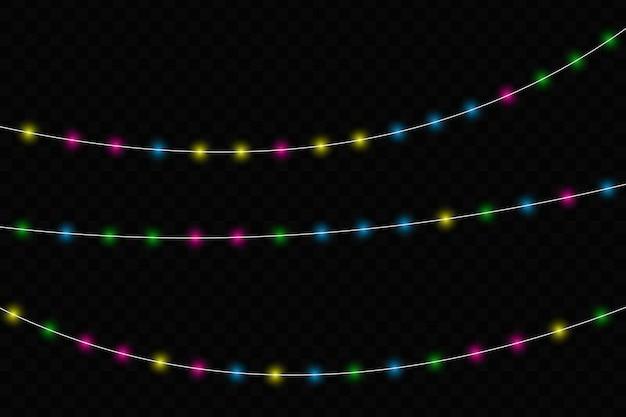 Luzes brilhantes de natal.