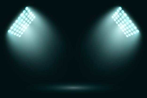 Luzes brilhantes do estádio realista