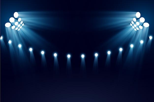 Luzes brilhantes do estádio