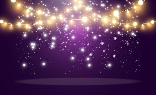 Luzes brilhantes e bonitas, elementos de design. luzes brilhantes
