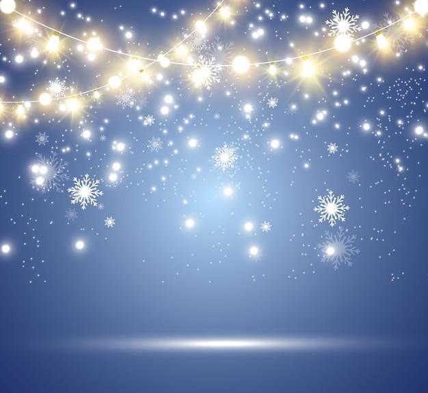 Luzes brilhantes e bonitas, elementos de design.