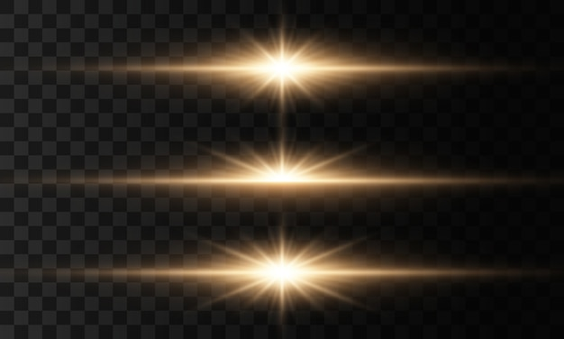 Luzes brilhantes e estrelas. conjunto de luz explode. partículas de poeira mágica cintilante.