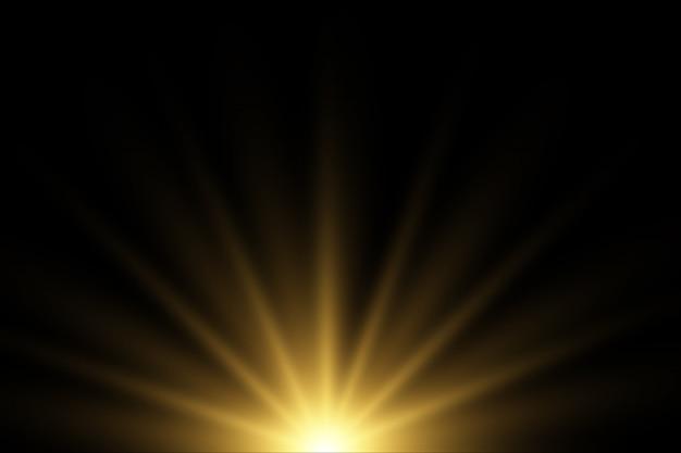 Luzes brilhantes e estrelas. isolado.