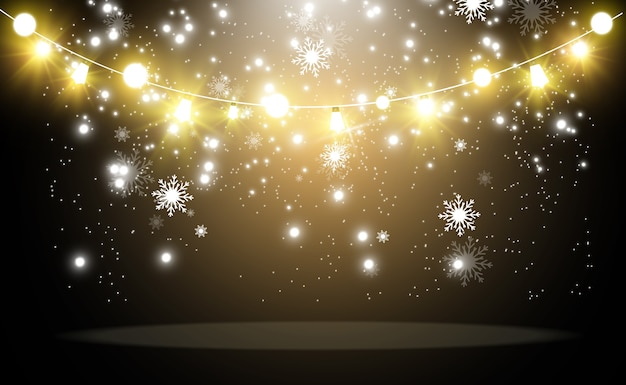 Luzes brilhantes e lindas. luzes brilhantes guirlandas.