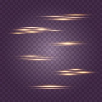 Luzes brilhantes, estrelas. partículas de poeira mágica cintilante