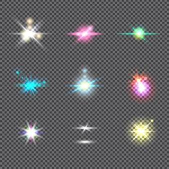 Luzes brilhantes explosão ou flash de luz