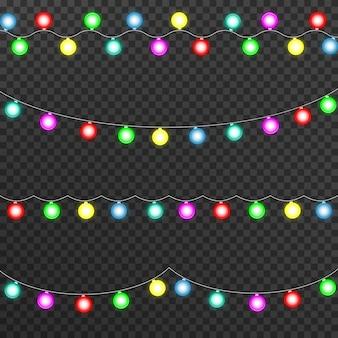 Luzes brilhantes para decorações de natal, guirlandas