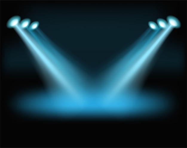 Luzes brilhantes para um conteúdo