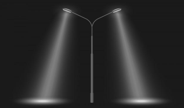 Luzes da rua levou linha
