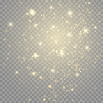 Luzes de bokeh de partículas de brilho