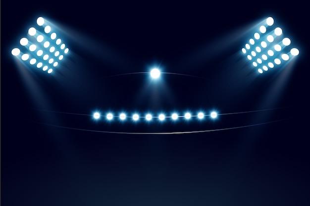 Luzes de feixe de estádio realista