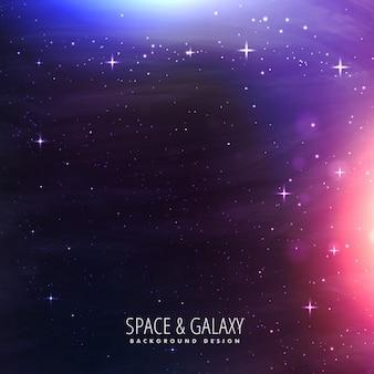 Luzes de galáxias de fundo